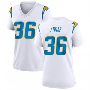 Women's Los Angeles Chargers Jahleel Addae White Game Jersey By Nike