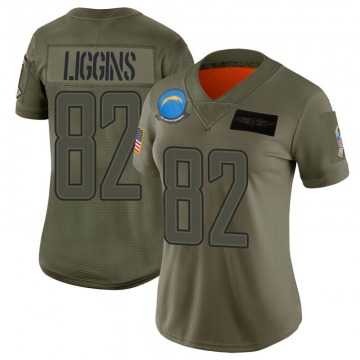 Women's Los Angeles Chargers Justice Liggins Camo Limited 2019 Salute to Service Jersey By Nike
