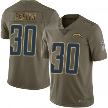 Youth Los Angeles Chargers Austin Ekeler Green Limited 2017 Salute to Service Jersey By Nike