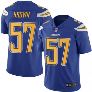 Youth Los Angeles Chargers Jatavis Brown Blue Limited Electric Color Rush Jersey By Nike