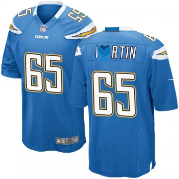 Youth Los Angeles Chargers Koda Martin Blue Game Powder Alternate Jersey By Nike