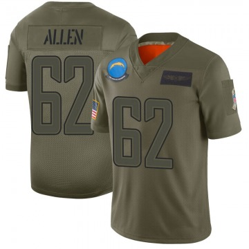 Youth Los Angeles Chargers Larry Allen Camo Limited 2019 Salute to Service Jersey By Nike