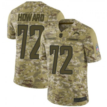 Youth Los Angeles Chargers Reggie Howard Camo Limited 2018 Salute to Service Jersey By Nike