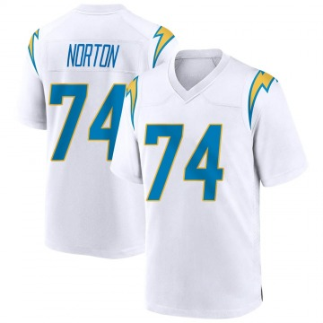 Youth Los Angeles Chargers Storm Norton White Game Jersey By Nike