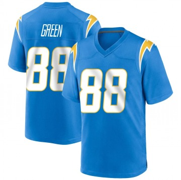 Youth Los Angeles Chargers Virgil Green Blue Game Powder Alternate Jersey By Nike